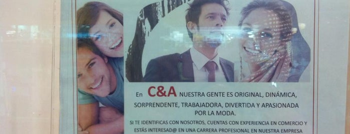 C&A is one of Ofertas de Trabajo Comercios Barcelona.