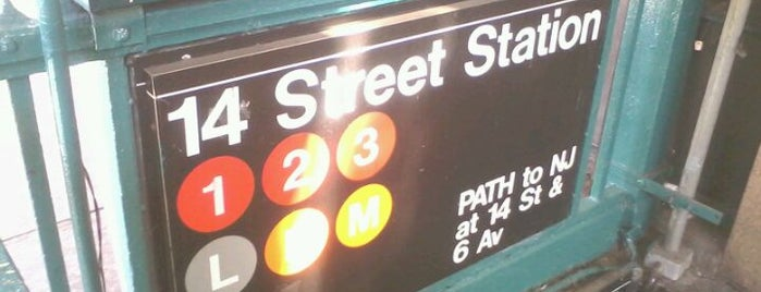 MTA Subway - 14th St (1/2/3) is one of Lugares favoritos de Alberto J S.