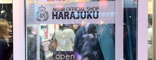 AKB48 OFFICIAL SHOP HARAJUKU is one of Japan.