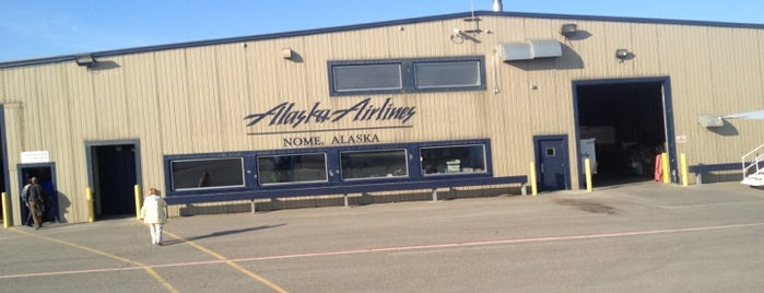 Nome Airport (OME) is one of Locais salvos de JRA.