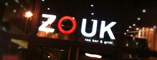 Zouk Tea Bar & Grill is one of Tempat yang Disukai Bora.