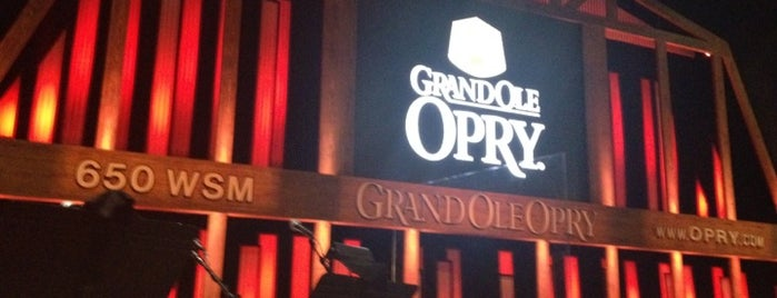 Grand Ole Opry House is one of Nashville.