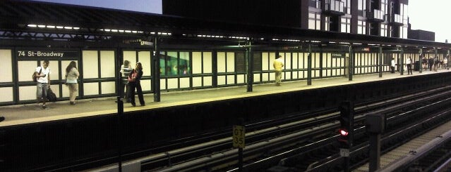 MTA Subway - 74th St/Roosevelt Ave/Jackson Hts (7/E/F/M/R) is one of My beloved hood!.