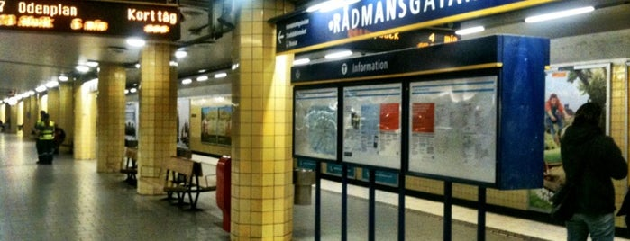 Rådmansgatan T-bana is one of Stockholm.