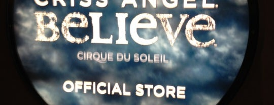 Criss Angel Store is one of Vegas.