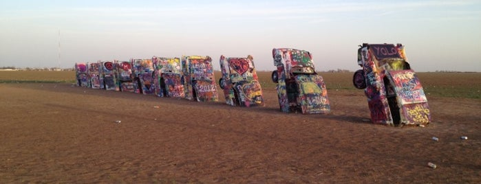 Cadillac Ranch is one of Discover Historic Route 66.
