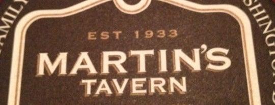 Martin's Tavern is one of Washington DC.