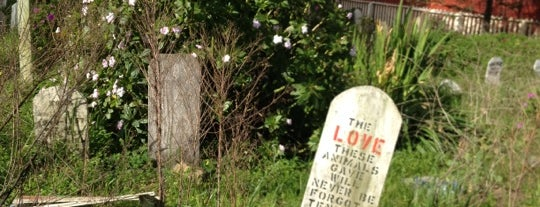 Presidio Pet Cemetery is one of Atlas Obscura SF Exploration Spots, OD 2012.