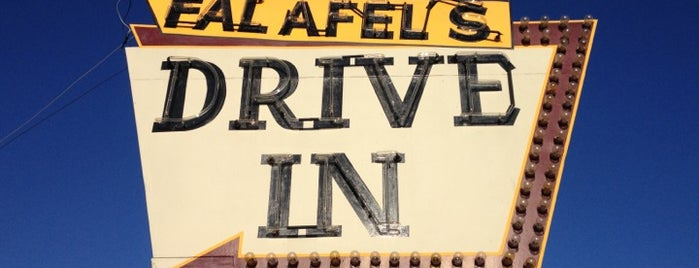 Falafel's Drive-In is one of Diners, Drive-Ins, and Dives.