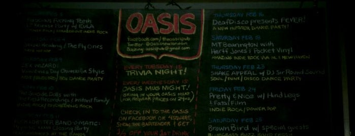 The Oasis Pub is one of Live Music.