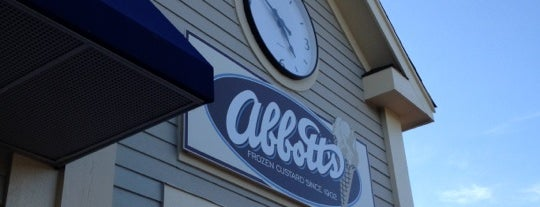 Abbott's Frozen Custard is one of Tempat yang Disukai Erik.