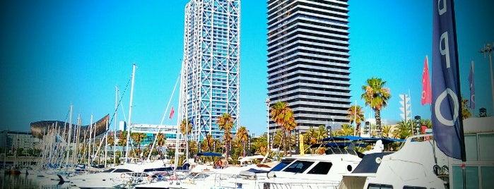 Port Olímpic is one of Spain. Barcelona.