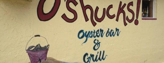 O'Shucks! is one of Tempat yang Disimpan Lizzie.