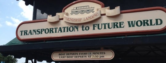 Friendship Boat Dock - Morocco is one of Transportation & Misc Disney World Venues.