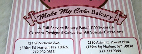 Make My Cake is one of Bakeries and Desserts to Try.