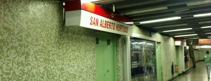 Metro San Alberto Hurtado is one of SCL.