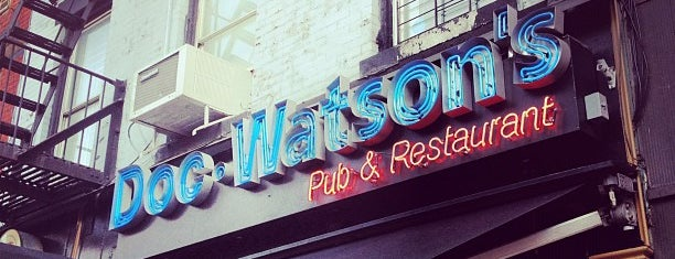 Doc Watson's is one of Exploring the UES.
