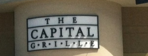 The Capital Grille is one of Arthur's Great Place To Eat.