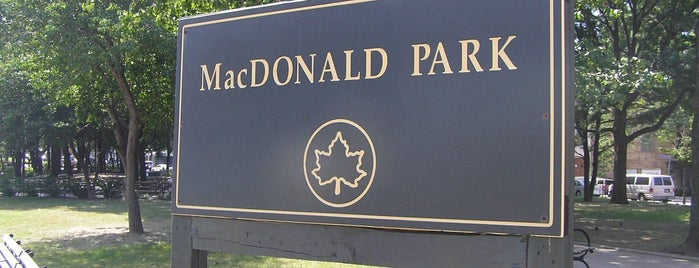 MacDonald Park is one of NYC Public WiFi Hotspots.