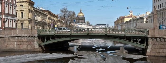 Поцелуев мост is one of Saint-Petersburg, Russia.Authentic city features.