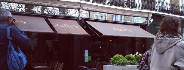 Julie's Restaurant and Champagne Bar is one of London Food.