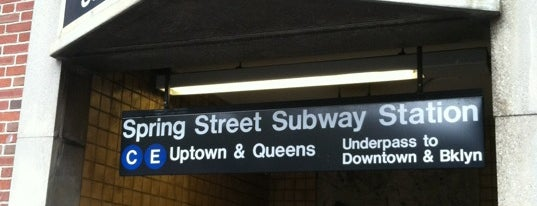 MTA Subway - Spring St (C/E) is one of commute.