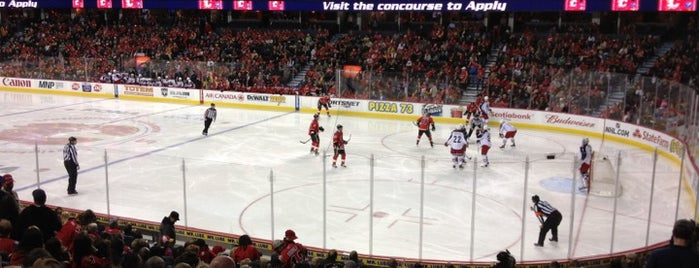Scotiabank Saddledome is one of NHL (National Hockey League) Arenas.