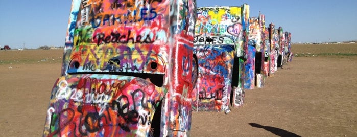 Cadillac Ranch is one of US Landmarks.