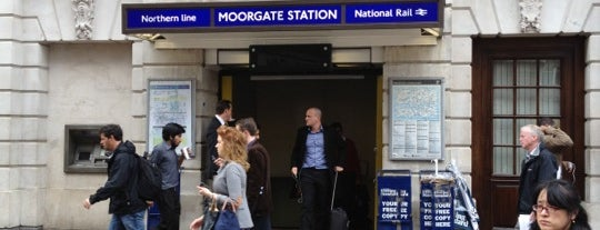 Moorgate London Underground Station is one of Railway stations visited.