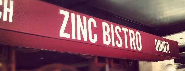 Zinc Bistro is one of Will Brazil's Mac N Cheese Run.