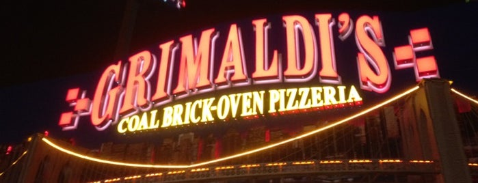 Grimaldi's Coal Brick-Oven Pizza is one of NYC food.