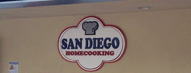 San Diego Home Cooking Mission Valley Cafe is one of Tempat yang Disukai Andrew.