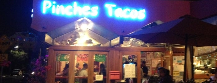 Pinches Tacos is one of Locais curtidos por Emily.