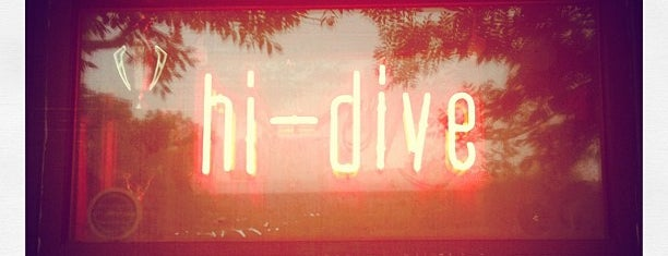 Hi-Dive is one of happy hour.