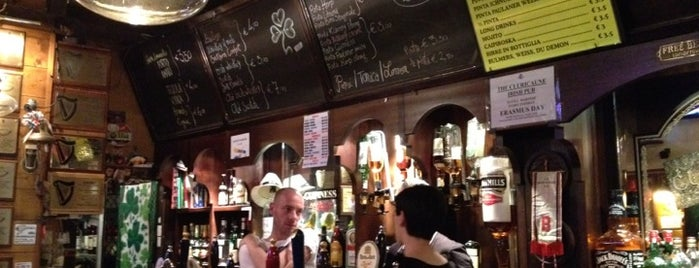 The Cluricaune Irish Pub is one of Must-visit Nightlife Spots in Bologna.