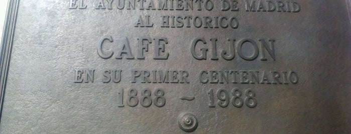 El Café Gijón is one of The Best Of Madrid.