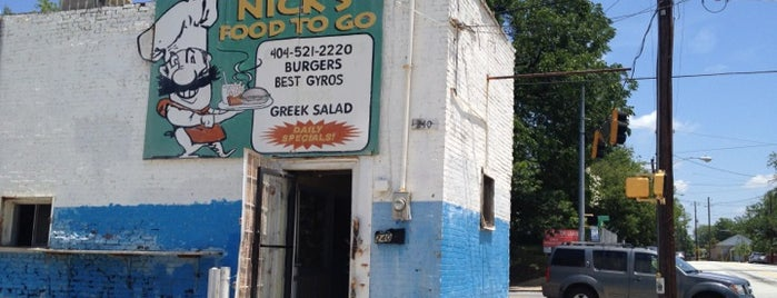 Nick's Food To Go is one of Atlanta bucket list.