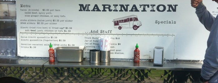 Marination Mobile is one of food trucks.