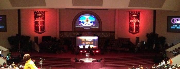 Oak Cliff Bible Fellowship is one of Tempat yang Disukai Trey.