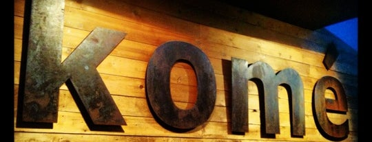 Komé is one of The 38 Essential Austin Restaurants, July 2012.