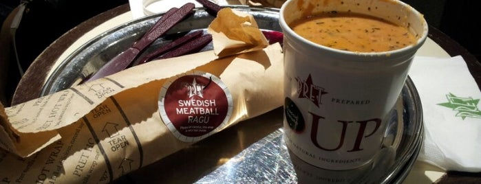 Pret A Manger is one of London food.