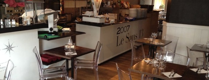 Le Sans 13 is one of Brussels Restaurants.