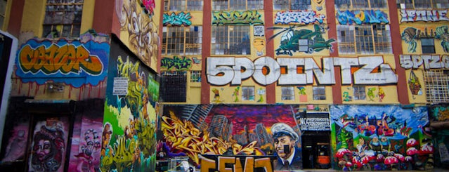 5 Pointz is one of NY.