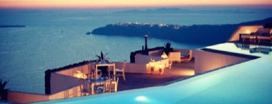 Grace Hotel is one of Santorini.