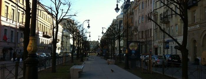 Bolshaya Konyushennaya Street is one of Must visit in spb.