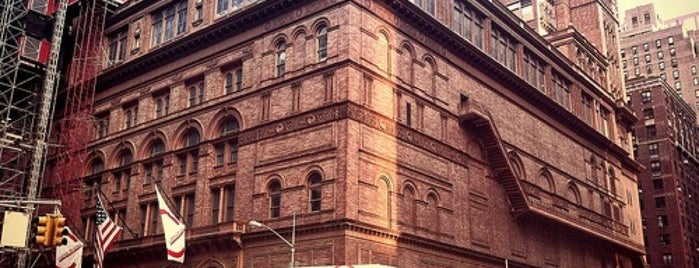 Carnegie Hall is one of Architecture - Great architectural experiences NYC.