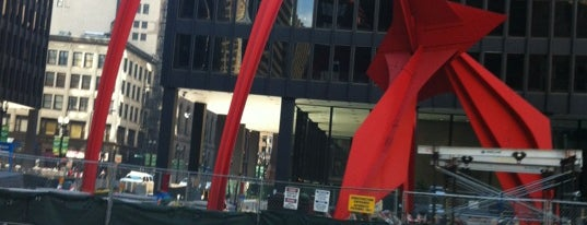 Alexander Calder's Flamingo Sculpture is one of Two days in Chicago, IL.