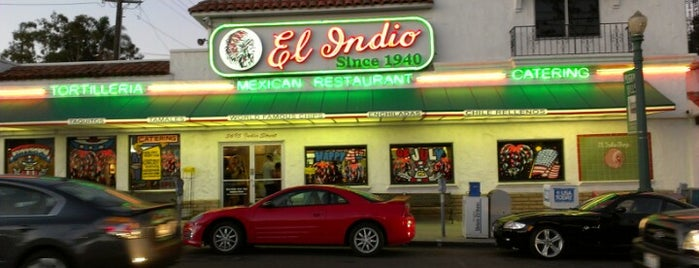 El Indio is one of Diners, Drive-Ins, & Dives.