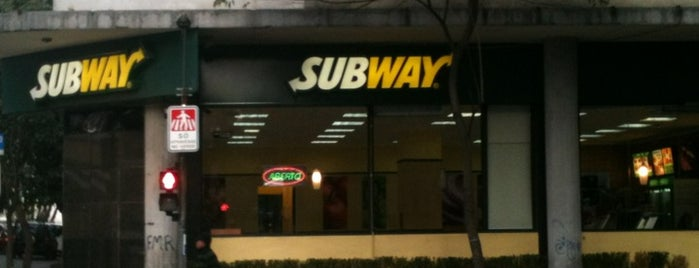 Subway is one of My food places.