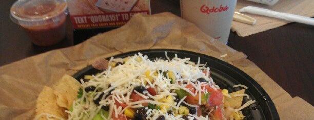Qdoba Mexican Grill is one of Tempat yang Disukai Mayank.